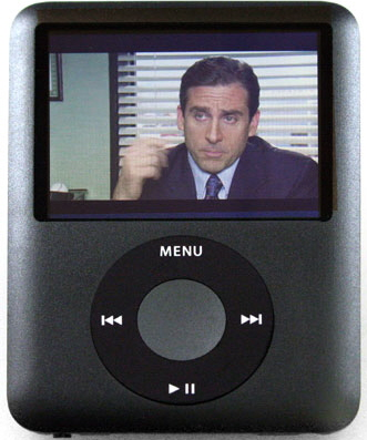 The 3rd generation Nano supports videos, TV shows, and video podcasts (Vodcasts)