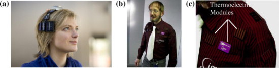 Miniature EEG (left); Miniature EKG (mid & right): Journal of Renewable & Sustainable Energy