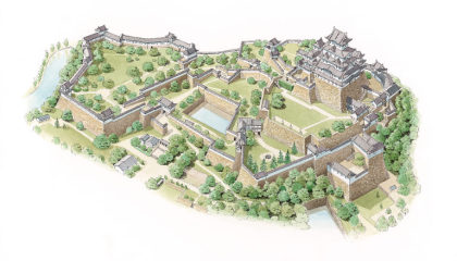 Plan of Himeji Castle