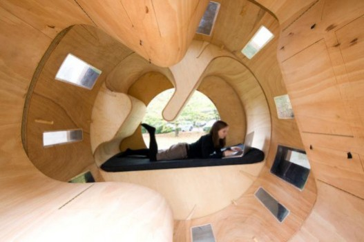 Rollit, experimental micro housing by students at KIT: image via archdaily