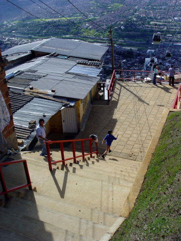 Medellìn, Colombia. Cable car system carries 30,000 persons per day: Cooper Hewitt via Architectural League of NY
