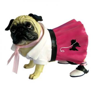 Pug in a Poodle skirt