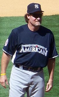 Wade Boggs, known as the 'Chicken Man' because he ate chicken before every game.: image via wikipedia