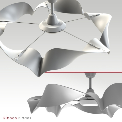Ribbon Ceiling Fan by Benjamin McMahon