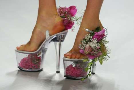 Flower Vase Shoes. Flower Vase Shoes. These shoes appeared on the runways