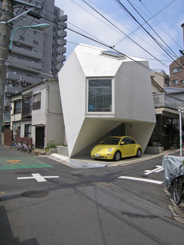 Inorganic home design - Tokyo's 'Reflection of Mineral' house
