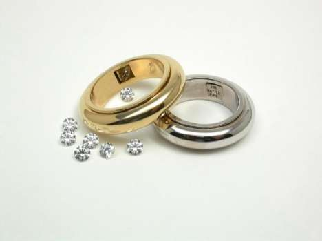 Diamond Rattle Ring