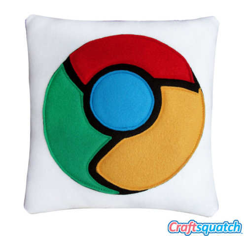 Google icon pillow by Craftsquash