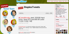 Staples Twitter Profile Account