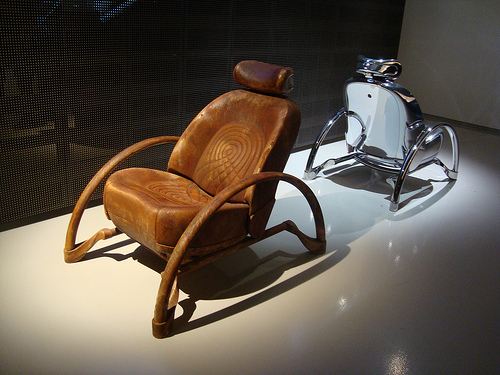 Leather Rover Chair by Ron Arad: © Jeni Rodger
