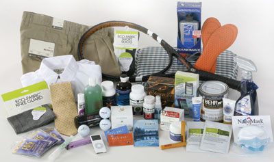 Just a small sample of products made from nanoparticles. ©2006 D. HAWXHURST/WILSON CENTER