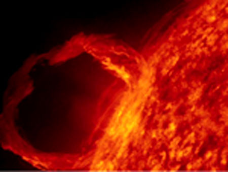 Solar prominence eruption from NASA&#039;s Solar Dynamics Observatory (SDO) image: Credit: NASA/SDO/AIA