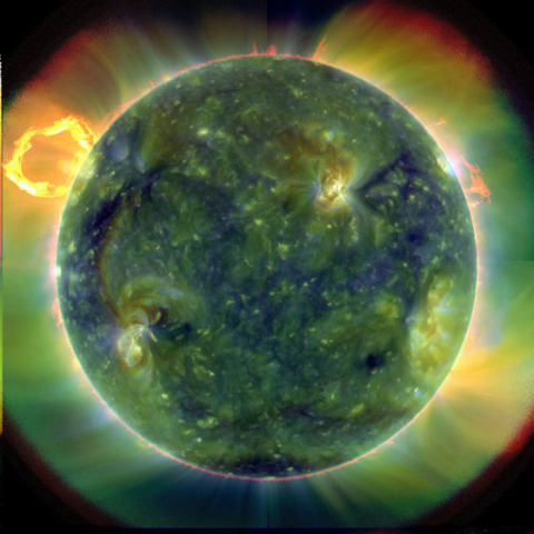 Extreme ultraviolet image of the sun taken by SDO March 20, 2010: Credit: NASA/Goddard/SDO AIA Team