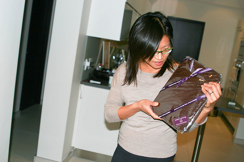 Chocolate-covered iPad (She doesn&#039;t know it yet.): Photo by Stefan Magdalinski