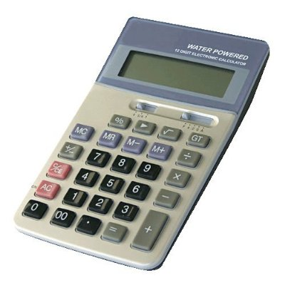 H2O Water Powered Desktop Calculator