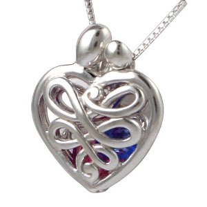 Modern Mom and Baby Heart Locket