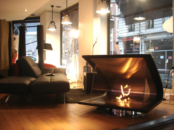 One incredibly awesome fireplace the ecosmart zeta for Denatured alcohol for fireplace