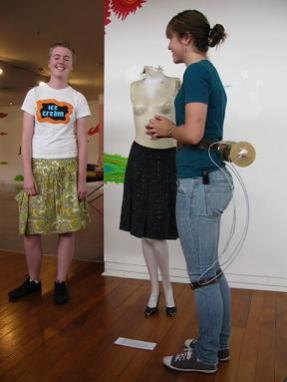 Chindogu: Rolling Pin Skirt Tucker: ©2009 Dunedin Fringe Festival Courtesy of Paul Smith