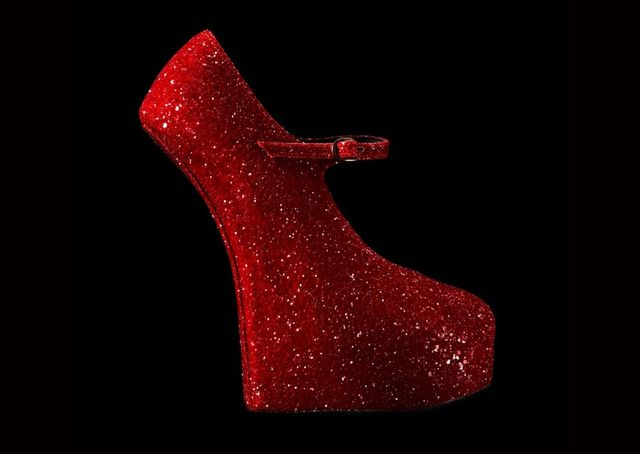 Natacha Marro Red Glitter Platforms