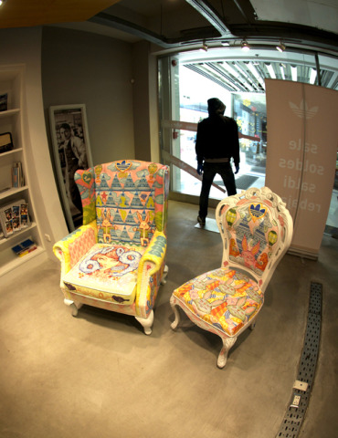 Adidas Atelier Painted Library Chairs: Artist: Ratinan Thaijareorn
