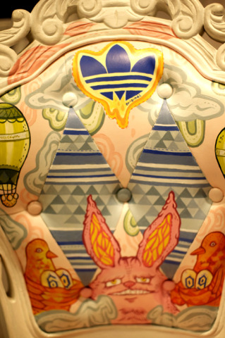 Adidas Atelier Painted Library Chair, detail: Artist: Ratinan Thaijareorn