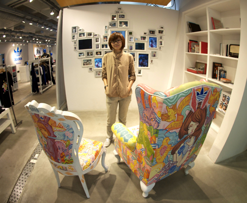 Adidas Atelier Painted Library Chairs with Ms.Thaijareorn: Artist: Ratinan Thaijareorn