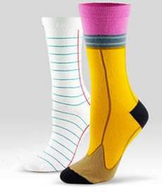 Paper and Pencil Socks for Writers