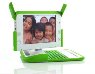 OLPC prototype low-cost laptop: This laptop will retail for about $200