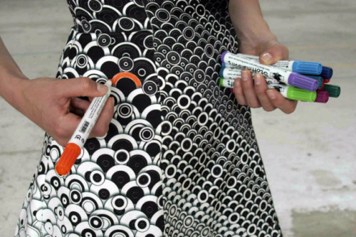 """DIY Fashion Design: """"Color-In Clothing"""" for Customizable ..."""