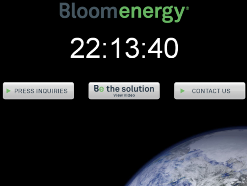 Bloom Energy Countdown Clock till press conference