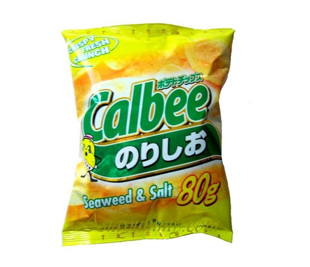Calbee Seaweed &amp;amp; Salt Potato Chips