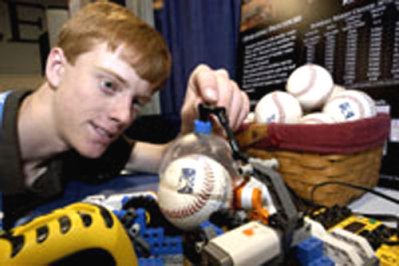 Cameron Kruse With His Invention (Photo Intel.com)