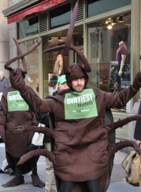 TripAdvisor Costumed Cockroaches on streets of NYC