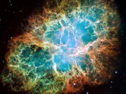 Crab Nebula: 6 light years across