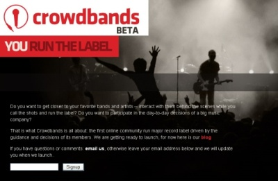 Crowdbands Web site