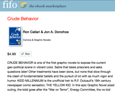 &quot;Crude Behavior&quot; available for sale at FifoBooks