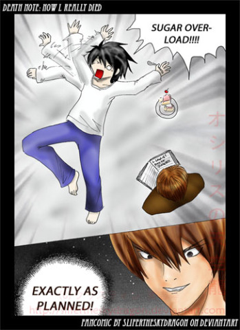 """DEATH NOTE: HOW I REALLY DIED"" by slifertheskydragon at Deviant Art"