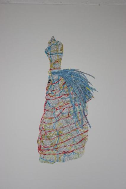 Dress Study Made From Maps of London