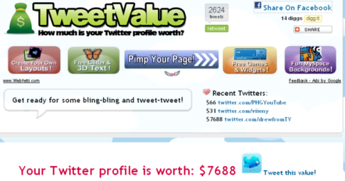 Drew Carey's TweetValue