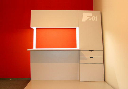ImageForm_Z01 by Vladimir Yuzbashev - Built-in LED lighting: The flat surface can be used as a 'party bar.'