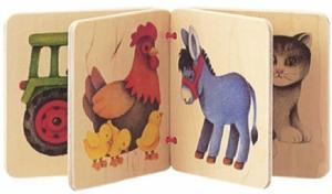 Farm Scene Wooden Book