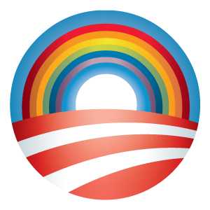 Gay Pride Obama logo