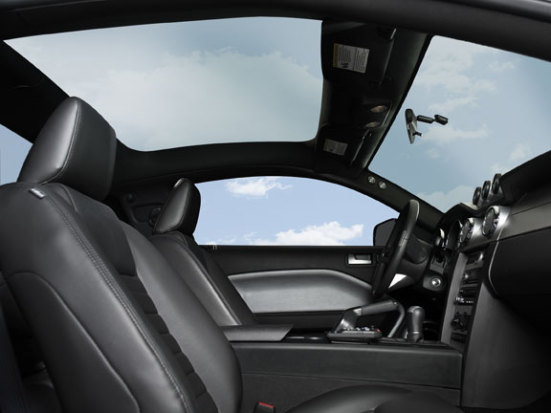 2009 mustang offers glass roof with spf50. Black Bedroom Furniture Sets. Home Design Ideas