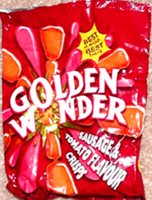 Golden Wonder Sausage & Tomato Flavour Potato Chips