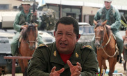 Hugo Chavez making a TV address