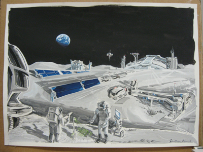 """Life and Work on the Moon"" by Pratham Karnik, Walt Whitman High Schoo, Rockville, MD (2009 Best Overall Score, High School)"