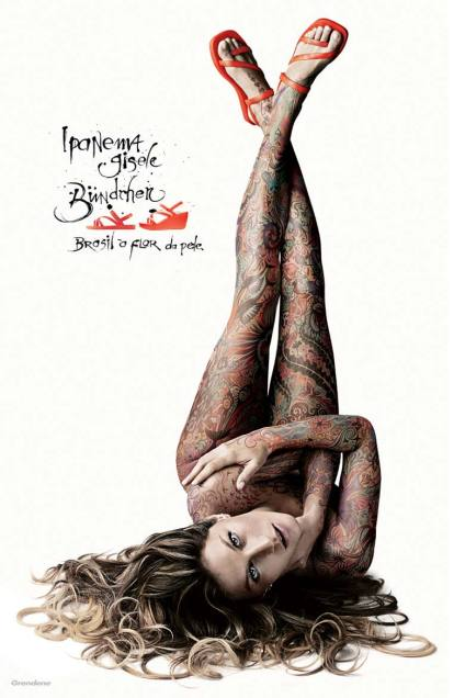 her beautiful tattooed body. But can you tell what these ads are for?