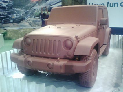 Actual Jeep Covered with Chocolate