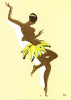 Josephine Baker with Banana Skirt