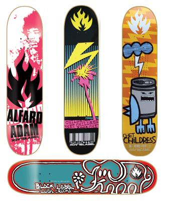 black label skateboard decks